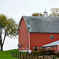 A collection of Barns that still can be seen while traveling the countryside in  the beautiful State of Wisconsin.<br /> Pierce County- Red Barn on Hwy 35 and south 1150th Street, Prescott.
