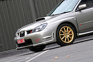 2005 Subaru MY06 Subaru Impreza WRX STI - Crystal Grey.Port Melbourne, Victoria, Australia.1st of May 2011.(C) Joel Strickland Photographics.Use information: This image is intended for Editorial use only (e.g. news or commentary, print or electronic). Any commercial or promotional use requires additional clearance.