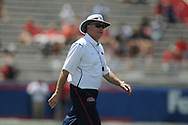 Mississippi head coach Houston Nutt in Mississippi's Grove Bowl in Oxford, Miss. on Saturday, April 17, 2010.