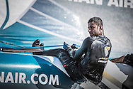 The Extreme Sailing Series 2014. Act 2. Muscat. <br /> Oman Air bowman Hashim Al Rashdi (OMA)<br /> Credit - Lloyd Images