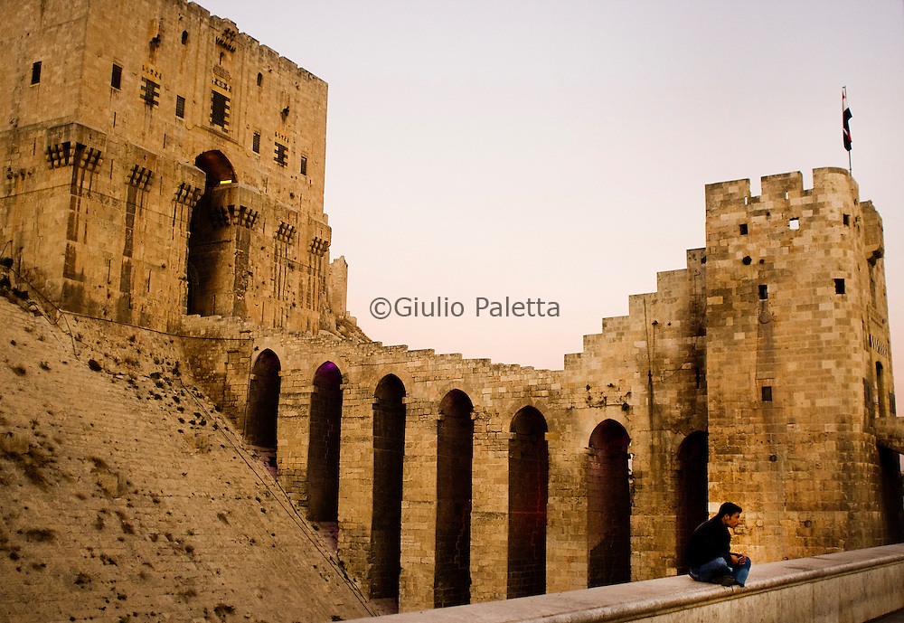 The ancient fortress of Aleppo, symbol of the city