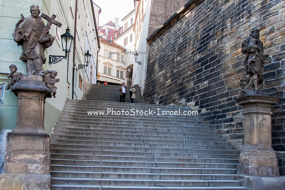 Steps In Old Town, Prague, Czech Republic