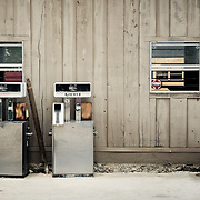 Old gasoline pumps in Abita Springs Louisiana