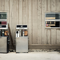 Old gasoline pumps in Abita Springs Louisiana