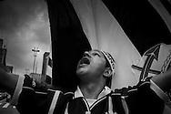 Sao Paulo, Brazil - December 16 of 2012:  Corinthians supporters celebrating the world championship title at Paulista avenue, downtown Sao Paulo. (Photo: Caio Guatelli)