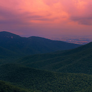 &quot;Do you Believe&quot;<br /> <br /> Gorgeous colorful sunset over the Blue Ridge Mountains of Virginia, in the summertime!