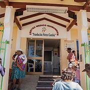 The entrance of Pietro Gamba's hospital in Anzaldo, near Cochabamba, in the Bolivian Andes