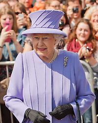 © Licensed to London News Pictures. 17/05/2013. St Ives, UK. Queen Elizabeth II visits St Ives. Photo credit : Ashley Hugo/LNP