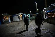 An eldery man is seen walking in the Calais camp, France. FEDERICO SCOPPA/CAPTA