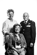 Peggy A. Staak<br /> Air Force<br /> O-5<br /> Flight Nurse<br /> 73-99<br /> Desert Shield/Storm<br /> <br /> William &quot;Tom&quot; Watkins<br /> Air Force<br /> E/O-6<br /> Medical Service Corps<br /> 10./18/68-02/09<br /> Desert Shield/Storm<br /> <br /> Susan Glenn<br /> Air Force<br /> E-9<br /> Aeromedical Evacuation Technician<br /> 03/01/76-06/01/06<br /> Desert Shield/Storm<br /> <br /> Model Release: Yes<br /> Photo by: Stacy L. Pearsall