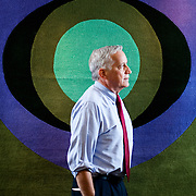 Walter Isaacson, President and CEO of the Aspen Institute and the biographer of Apple founder Steve Jobs, speaks during an interview in Washington, DC on October 28 2011.