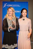 LONDON - Crown Princess Mary of Denmark hand over the Champions for Change Award to Princess Mabel of The Netherlands for her work as initiator and chair of 'Girls Not Brides: The Global Partnership to End Child Marriage, at the Banqueting Hall in London, United Kingdom, 12 March 2015. The award is an initiative of the International Centre for Research on Women  kristin scott thomas (ICRW). COPYRIGHT ROBIN UTRECHT LONDEN – Prinses Mabel is donderdagavond in Banqueting House in Londen geëerd voor haar werk voor de organisatie Girls Not Brides. Die zet zich wereldwijd in om een einde te maken aan kindhuwelijken. Tijdens een galadiner kreeg Mabel de 'Champion for Change Award' uitgereikt door de Deense kroonprinses Mary. Die is beschermvrouw van het evenement.