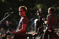The Kings of Leon perform at the Global Citizen's Festival in New York's Central Park. <br /> <br /> The free, ticketed event is part of the Global Citizen platform, a social media and live-event campaign. Musicians and celebrities join dignitaries and philanthropists to urge world leaders to act towards ending extreme poverty by 2030. Free tickets were earned by fans who logged on to www.globalfestival.com to learn and share content about four main themes: education, women&rsquo;s equality, global health and global partnerships.<br /> <br /> (Photo by Robert Caplin) 2013 Global Citizen's Festival. <br /> <br /> Photo &copy;Robert Caplin