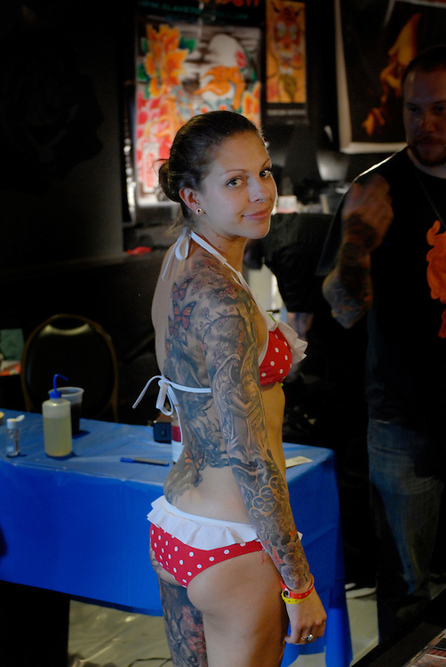 New York City Tattoo Convention 2009 at the Roseland Ballroom: Gabrielle at the Visionary stand.
