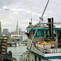 Crab Fisherman coming into the docks at Fisherman's Wharf in San Francisco.  Mandatory Credit: Dinno Kovic / Dinno Kovic Photography