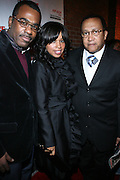 "l to r: Phil Pabon, Mashonda and Rev. Benjamin Chavis at The Russell Simmons and Spike Lee  co-hosted""I AM C.H.A.N.G.E!"" Get out the Vote Party presented by The Source Magazine and The HipHop Summit Action Network held at Home on October 30, 2008 in New York City"