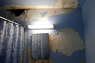 Alicia Moore's bathroom in The Bronx, New York.<br /> Public housing in New York were built by NYCHA (New York City Housing Authority) using low cost materials and due to that, the houses get mold, infiltrations and other problems. Living with this environment leads to health diseases such as asthma and other respiratory allergies. As they are public houses, people wait for 2 years to get their houses fixed and as time goes by, the exposure to these fungus leads to an intolerant public health situation. The public houses  are scattered in the city: lower Manhatthan, harlem and the bronx. However, in the Bronx, the situation is a severe issue where the asthma death rate is one of the highest in the city. Living in these houses is living side by side with a &quot;silent murder&quot;.