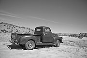 old truck parked in the desert of The Southwest