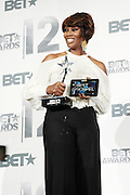 June 30, 2012-Los Angeles, CA : Recording Artist Yolanda Adams attends the 2012 BET Awards- Media Room held at the Shrine Auditorium on July 1, 2012 in Los Angeles. The BET Awards were established in 2001 by the Black Entertainment Television network to celebrate African Americans and other minorities in music, acting, sports, and other fields of entertainment over the past year. The awards are presented annually, and they are broadcast live on BET. (Photo by Terrence Jennings)
