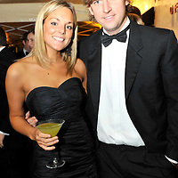 -FREE PICTURE / NO REPRODUCTION FEE-.Pictured at the annual Black and White Ball in the Blue Haven Hotel, Kinsale were Jennifer meagher and Paul Canty from Cork..Pic. John Allen