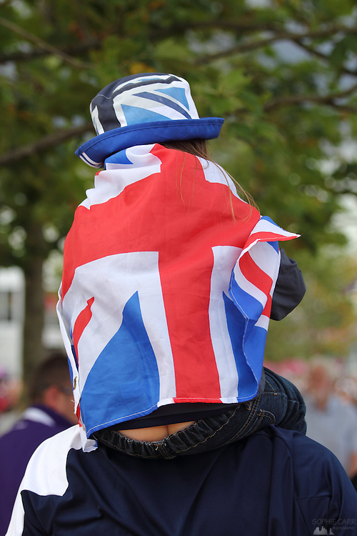 British fans at the Olympic Park during the Lonon 2012 Olympics