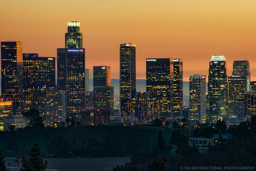 Los Angeles Skyline @ Sunset