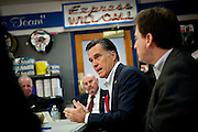 GOP presidential candidate Mitt Romney speaks to business leaders at Western Nevada Supply in Sparks, Nev., February 3, 20112.