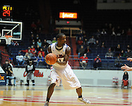 "Ole Miss' Terrance Henry (1) vs. SMU at the C.M. ""Tad"" Smith Coliseum in Oxford, Miss. on Tuesday, January 3, 2012. Ole Miss won 50-48."