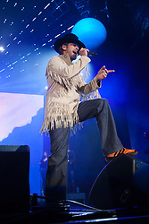 Jamiroquai performing live on stage at the SECC..