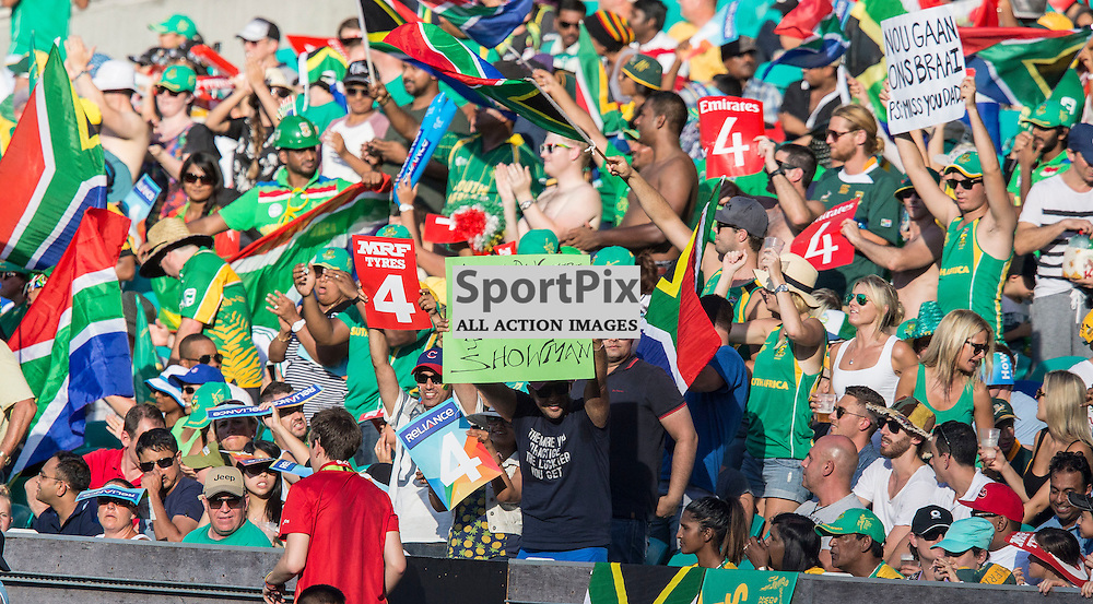 ICC Cricket World Cup 2015 Tournament Match, South Africa v West Indies, Sydney Cricket Ground; 27th February 2015<br /> South African supporters
