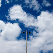 Blue sky and clouds at Bird Creek Park in Wautoma, Wisconsin.