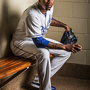 February 27, 2015: Pitcher Yordano Ventura (30) poses for a portrait during the Kansas City Royals photo day in Surprise, AZ.