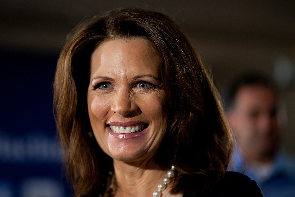 Republican presidential hopeful Michele Bachmann campaigns on Tuesday, August 9, 2011 in Sioux City, IA.