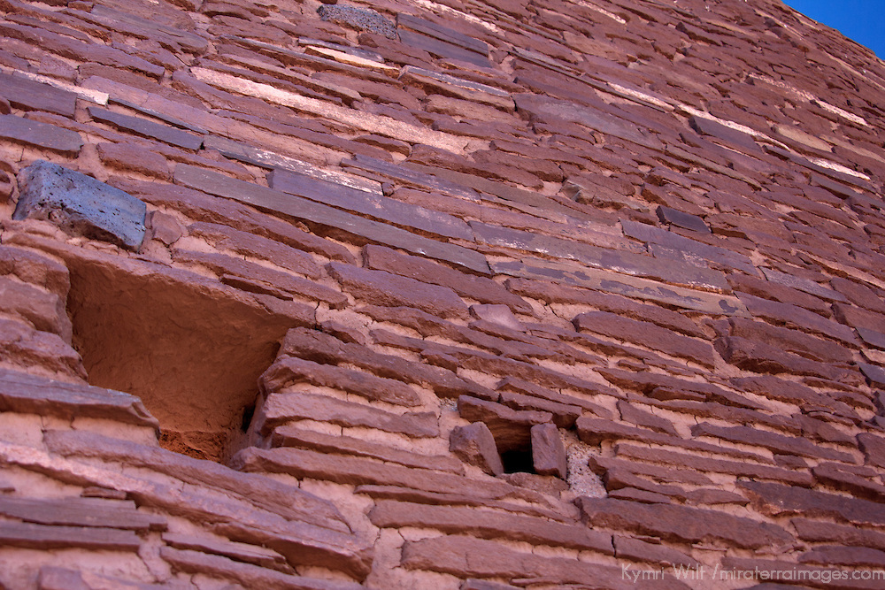 North America, USA, Arizona, Wupatki. Detail of Wukoki Pueblo in Wupatki National Monument.