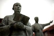 Statues outside St.Francis Xavier Church