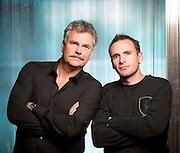 OSLO, 20131031: TV2 presenterte og arrangerte pressem&oslash;te med programledere og kommentatorertil OL-sendingene hos Senkveld. Harald Bredeli og Rapha&euml;l Poir&eacute;e. <br /> FOTO;  TOM HANSEN
