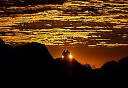 Sun rises at the Joshua Tree National Park