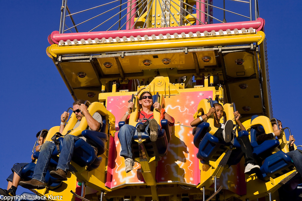 14 OCTOBER 2008  -- PHOENIX, AZ: The Arizona State Fair started Oct.  10 and runs through Nov. 2. Carnival and midway workers who have worked the fair for years say attendance so far is much lower than in the past and people at the fair this year aren't spending as much money as they have in the past. PHOTO BY JACK KURTZ