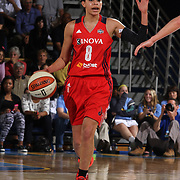 Washington Mystics Guard Bria Hartley (8) dribbles the ball up court the second half of an WNBA preseason basketball game between the Chicago Sky and the Washington Mystics Tuesday, May. 13, 2014 at The Bob Carpenter Sports Convocation Center in Newark, DEL