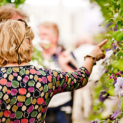 LONDON, UK - 22 May 2012: a visitor at the RHS Chelsea Flower Show 2012.