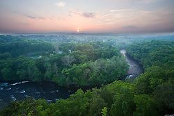 The Farmington River as seen from the Metacomet Trail, Tariffville, Connecticut.