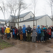 Protestors with the Black Lives Matter movement protest outside the Minneapolis Police Department 4th precinct headquarters, after activists who had been camped out in the front entrance to the precinct were cleared out on Wednesday, November 18, 2015 in Minneapolis, Minnesota. <br /> <br /> Protests and the encampment came in reaction to the shooting of 24-year-old Jamar Clark by Minneapolis Police on Sunday. <br /> <br /> <br /> Photo by Angela Jimenez for Minnesota Public Radio www.angelajimenezphotography.com