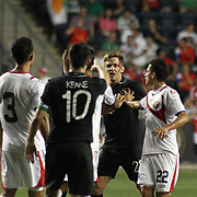 Republic of Ireland Forward Kevin Doyle (22) argue with Costa Rica Defender Giancarlo Gonzalez (3) in the first half of the inaugural freedom cup between Ireland and Costa Rica Friday. June. 6, 2014 at PPL Park in Chester PA.