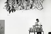 Tempt working on MOCA mural