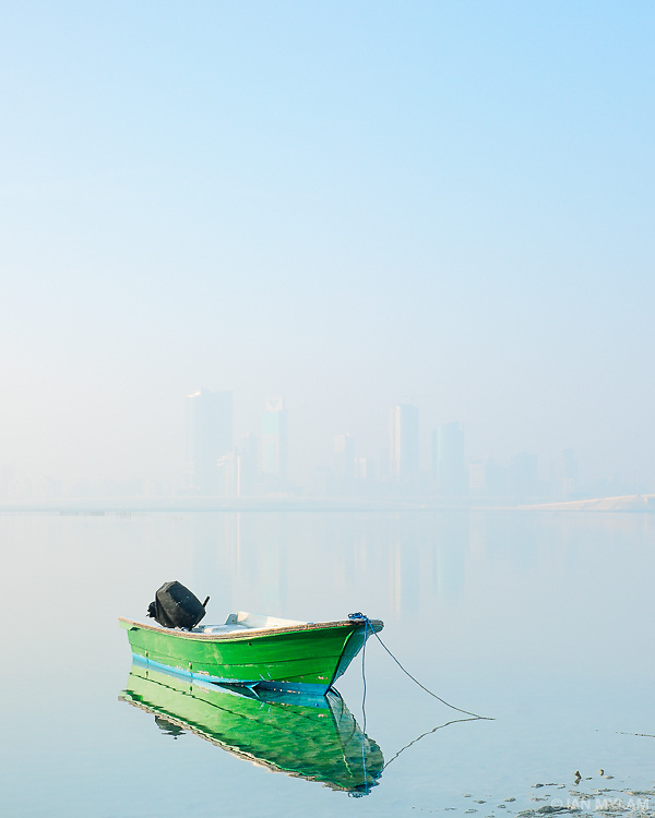 Boat at Dawn - Bahrain