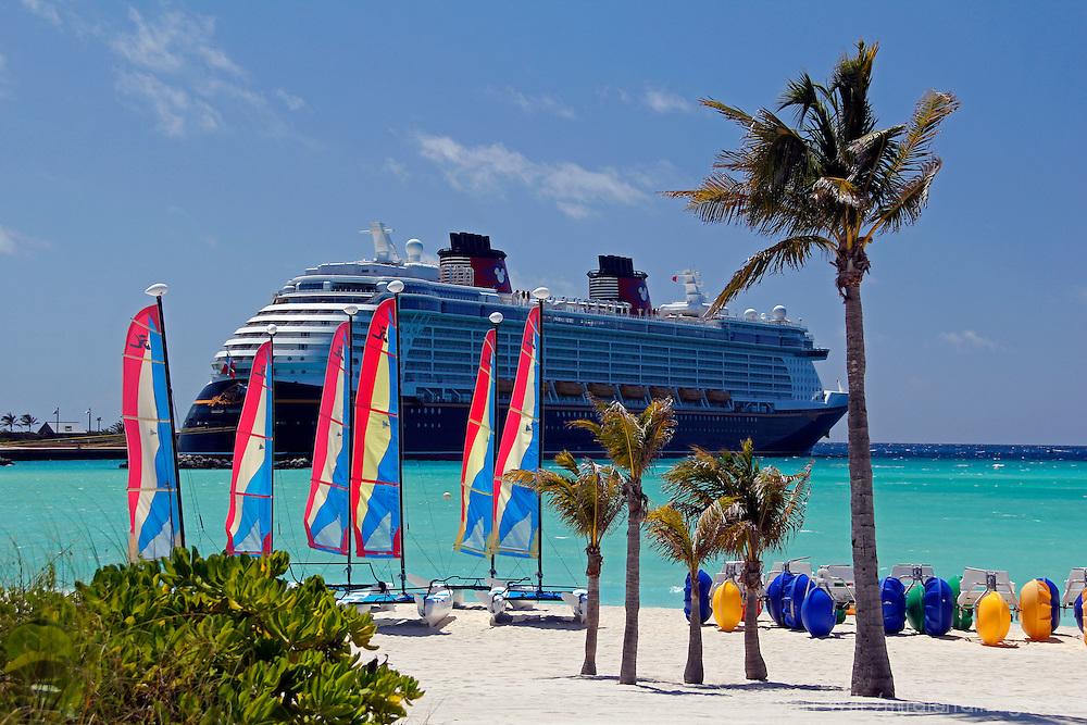 Caribbean, Bahamas, Castaway Cay. Disney Fantasy at Castaway Cay.