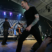 Dropkick Murphys featuring Al Barr (lead vocals), Ken Casey (bass guitar, lead vocals), Matt Kelly (drums, bodhran, vocals), James Lynch (guitar, vocals), Scruffy Wallace (bagpipes, tin whistle), Tim Brennan (guitar, accordion, vocals), and Jeff DaRosa (acoustic guitar, banjo, bouzouki, keyboard, mandolin, whistle, organ, vocals) performs on the fourth day of the 2010 Bonnaroo Music & Arts Festival on June 13, 2010 in Manchester, Tennessee. The four-day music festival features a variety of musical acts, arts and comedians..Photo by Bryan Rinnert/3Sight Photography