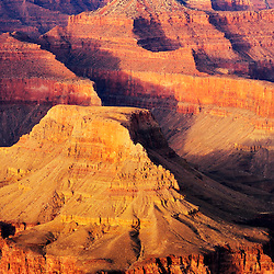 Grand Canyon view from Powell Point at sunset.