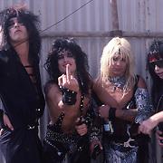 Motley Crue Backstage at Castle Donnington , England Aug 1984 Donnington Monsters of Rock 1984 Donnington 1984 Tommy Lee