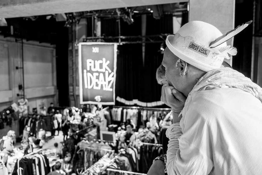 Germany - Deutschland - Holzmarkt Projekt LE DOERF; Säälchen, Konzertsaal, Fame Restaurant, Kita, Marktplatz _ ehem. BAR 25 / Katerblau; Bauprojekt an der Spree in Berlin-Mitte; Feierliche Eröffnung am 01. Mai 2017; Alternative Cultural City Project HOLZMARKT - former BAR 25 Techno Club at Spree riverside; HIER: Holzmarkt Designer Market; Berlin Loves You;   © Christian Jungeblodt